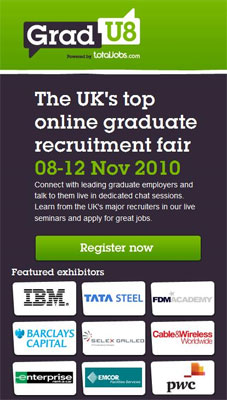 The UK's Top Online Graduate Recruitment Fair
