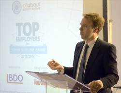 Visa Europe Triumph at Top Employers for School and College Leavers Awards 2013